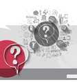paper and hand drawn question mark emblem vector image