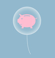 piggy bank in balloon vector image