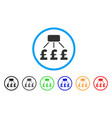 pound financial scheme rounded icon vector image vector image