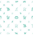 pram icons pattern seamless white background vector image vector image