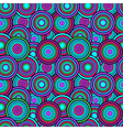 Purple and green circles seamless pattern vector image vector image