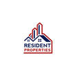 real estate and building logo concept vector image vector image