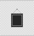 rectangular picture frame hanging on the wall icon vector image vector image