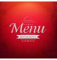 Red Menu Background vector image