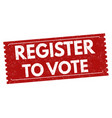 register to vote sign or stamp vector image