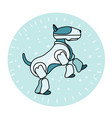 robot dog is standing on its hind legs vector image vector image