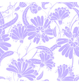 seamless floral pattern in a doodle style vector image vector image