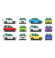 set car side and front view vector image