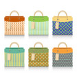 set colorful shopping bags vector image vector image