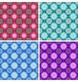 set geometric patterns vector image