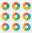 set of 4-12 circle chart infographic templates vector image