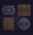set of art deco golden borders frames vector image vector image