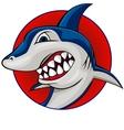 shark mascot vector image vector image
