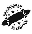 skateboard style logo simple style vector image