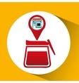 smartphone break store app location vector image