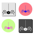 spider flat icon vector image vector image