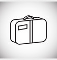 summer luggage thin line on white background vector image vector image