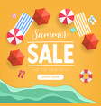 summer sale tropical beach top view banner vector image vector image