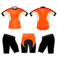 t-shirt sports cycling vest vector image vector image