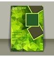 Vertical presentation of business brochure vector image vector image