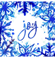 Watercolor snowflake card vector image vector image