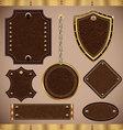 Leather LABELS set vector image