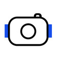 simple camera icon style vector image
