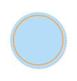 decorative frame emblem vector image