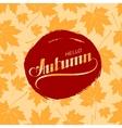 Hello Autumn Seasonal vector image