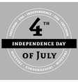 Independens day gray vector image