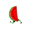 a running watermelon delicious red fruit icon vector image