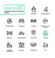 apartment rental service - line design icons set vector image