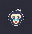 ape crying monkey sticker print vector image vector image