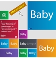 Baby on board sign icon Infant in car caution vector image