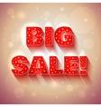 BIG SALE red banner vector image