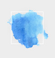 blue watercolor stain banner design element with vector image vector image