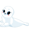 cartoon baby seal vector image vector image