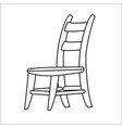 chair cartoon - line drawn vector image