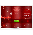 Christmas Card with Text Space vector image