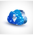 cloud computing icon with mesh for communication vector image