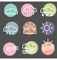 Colored weather Icons vector image