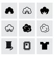 cotton icon set vector image vector image