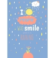 Cute card with character and vector image vector image