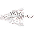 driver word cloud concept vector image vector image