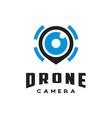 drone camera logo vector image
