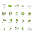 ecology environment and nature icons 4 vector image