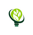 ecology solutions logo design template vector image vector image
