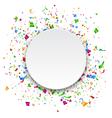 Festive Celebration Bright Confetti with Circle vector image vector image