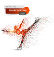 figure skating - dot sport template vector image