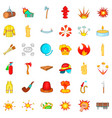 flame icons set cartoon style vector image vector image